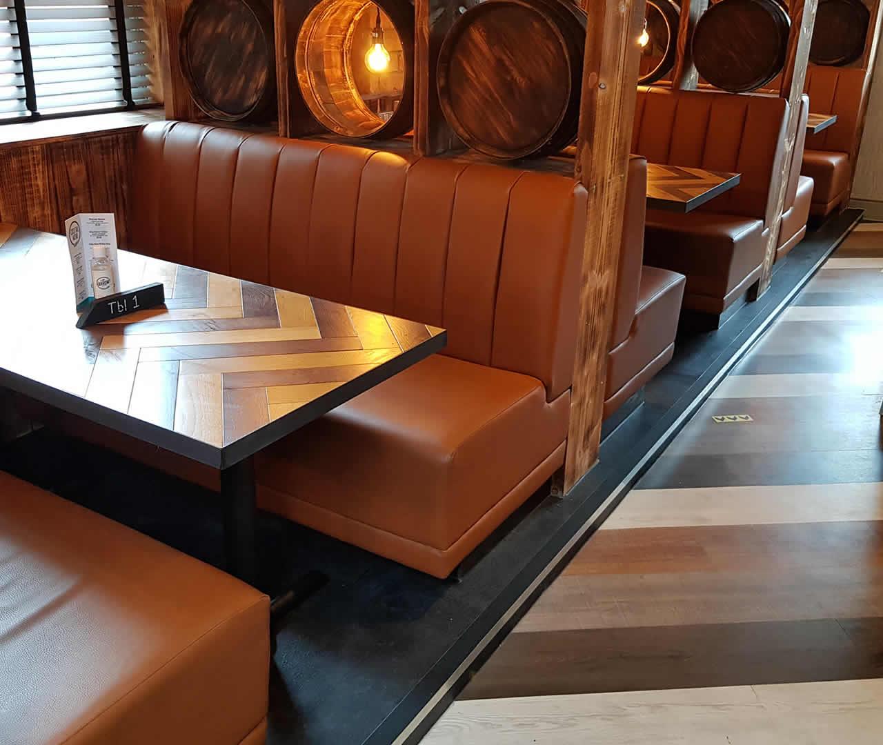 plain back fixed seating
