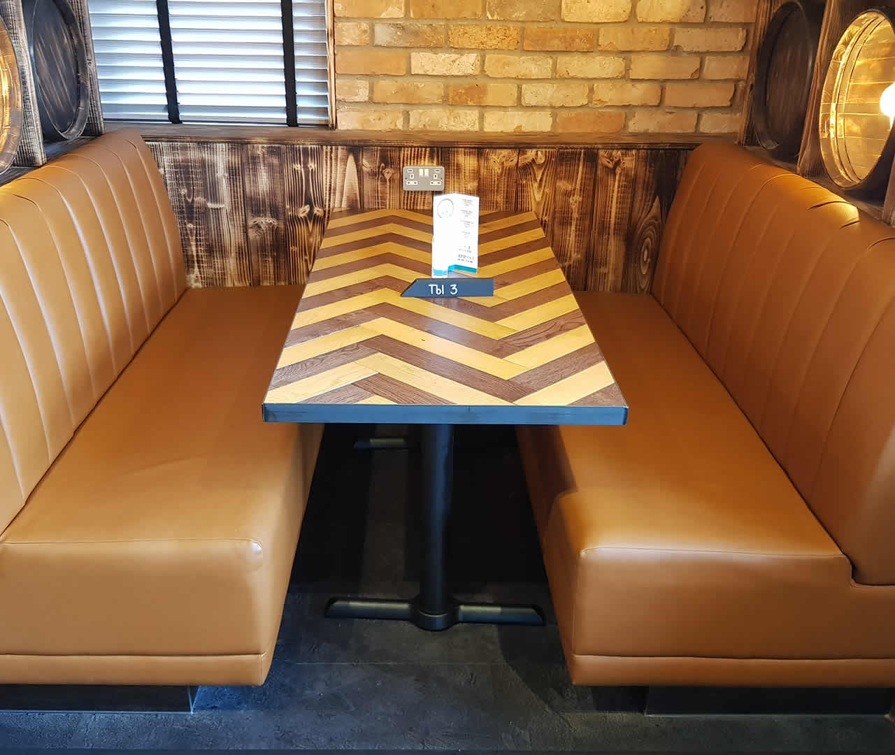 vertical flute fixed seating