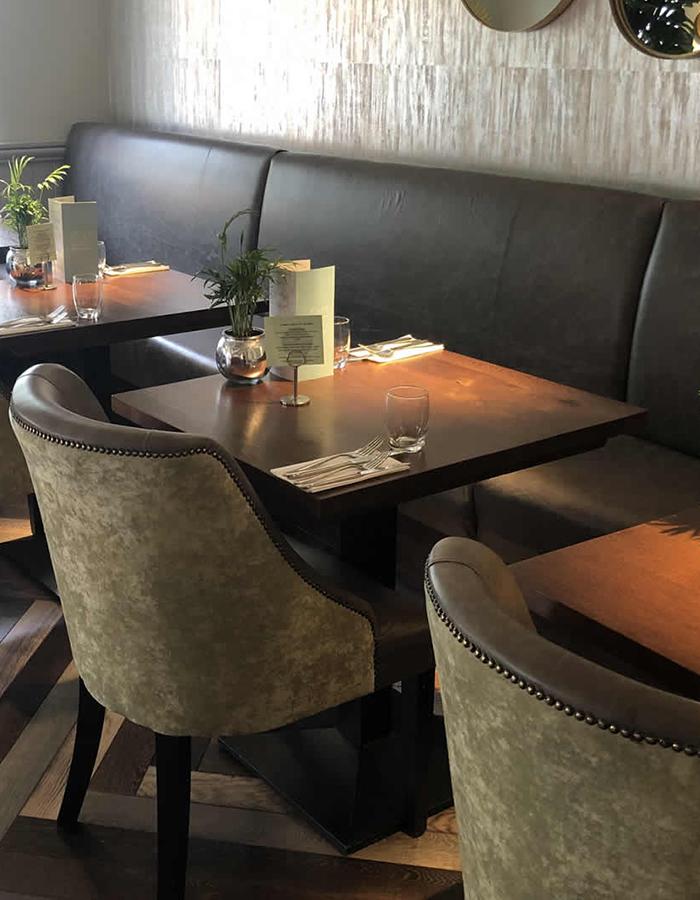 restaurant banquette seating